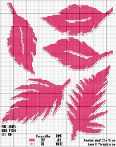 Pink Leaves - pattern