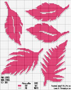 Pink Leaves - pattern